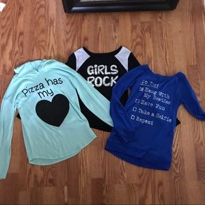 Justice Shirts & Tops - Girls Size 10 Long Sleeve Bundle